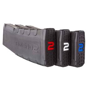 Amend2 AR-15 Rifle Magazine With Red, White and Blue Internals - Black 30/rd 3/pk