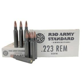 Red Army Lead Core Rifle Ammunition 223 Rem 55gr FMJ 1000/ct