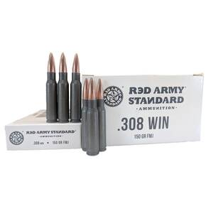 Red Army Lead Core Rifle Ammunition .308 Win 150gr FMJ 500/ct