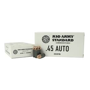 Red Army Lead Core Rifle Ammunition .45 ACP 230gr FMJ 500/ct