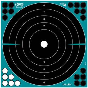"Allen Girls with Guns Splash Adhesive Bullseye 12"" - 5/ct"