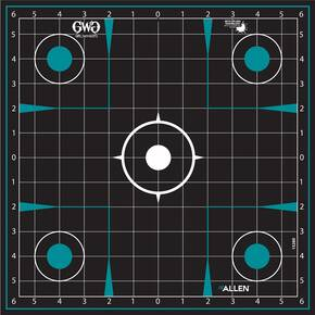 Allen Girls with Guns Splash Adhesive Sight Grid Targets 12x12 - 5/ct