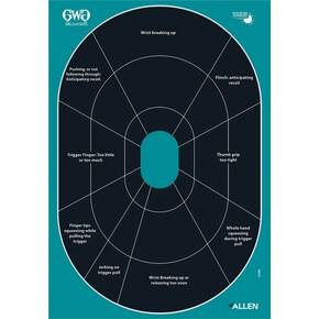 Allen Girls with Guns Splash Adhesive Oval Silhoutte Target 12x18 - 5/ct