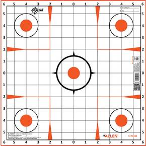 Allen EZ AIM Paper Targets Sight-In Grid 12x12 -12/ct