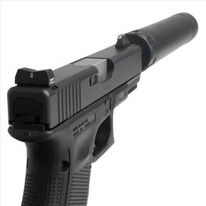 XS Sight Systems DXT Standard Dot Tritium Express Set  Suppressor Hgt for Glock models 17/19/22-24/26/27/31-36/38