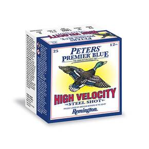 "Peters Premier Blue Steel Shotshells 12 ga 3"" 1-1/4oz 1400 fps #3 25/ct"