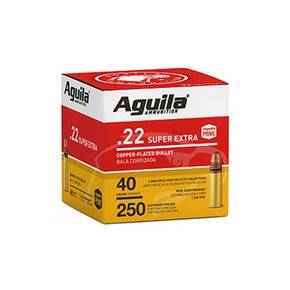 Aguila Super Extra High Velocity Rifle Ammunition .22 LR 40 gr CPSP 1255 fps 250/ct