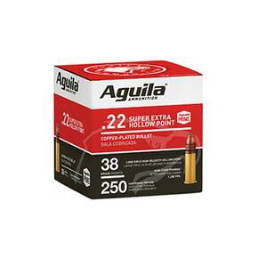 Aguila Super Extra High Velocity Rifle Ammunition .22 LR 38 gr CPHP 1280 fps 250/ct
