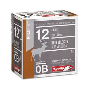 "Aguila Field Shotshells 12ga 2-3/4"" 1275 fps #0  25/ct"