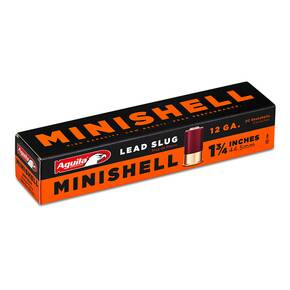 "Aguila Minishell Shotshell 12 ga 1-3/4"" 5/8oz 1250 fps Slug 20/ct"