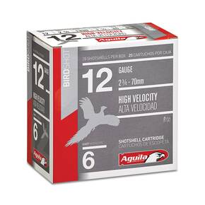 "Aguila High Velocity Field Shotshells 12 ga 2-3/4"" 1-1/4oz 1330 fps #8 25/ct"