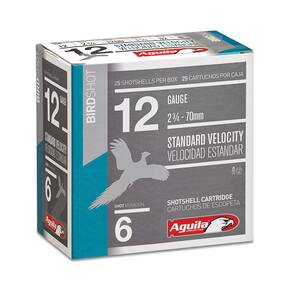 "Aguila Field  Shotshells 12 ga 2-3/4"" 1-1/8oz 1200 fps #6 25/ct"