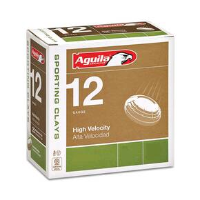 "Aguila High Velocity Sporting Clays Shotshells 12 ga 2-3/4"" 1-1/8oz 1325 fps #8 25/ct"