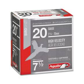 "Aguila High Velocity Shotshells 20 ga 2-3/4"" 1oz 1220 fps #7.5 25/ct"