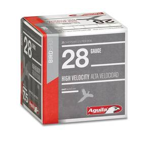 "Aguila High Velocity Shotshells 28ga 2-3/4"" 3/4oz 1275 fps #8 25/ct"