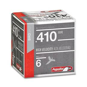 "Aguila Sub-Gauge Shotshells .410 ga 2-1/2"" 1/2oz 1275 fps #8 25/ct"