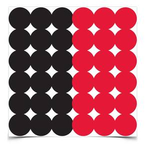 "Birchwood Casey Dirty Bird Repair Pasters - 1"" 432 qty Red/Black"