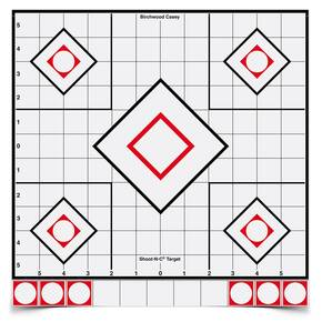 "Birchwood Casey Shoot-N-C White/Black Sight-In Target - 5-12"" Targets 55 Pasters"