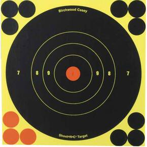 "Birchwood Casey Shoot-N-C 6"" Reactive Self-adhesive Targets 60/pk"