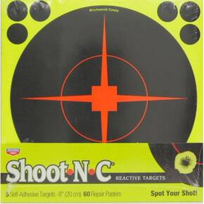 "Birchwood Casey Shoot-N-C 8"" Reactive Target 5/ct"