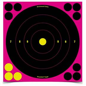 "Birchwood Casey Shoot-N-C 8"" Pink Round 30/ct 360 Pasters"