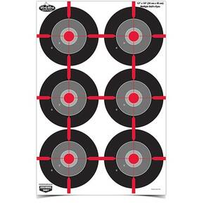 "Birchwood Casey Dirty Bird  12"" x 18"" Multiple Bull's-Eye Target - 8 ct"