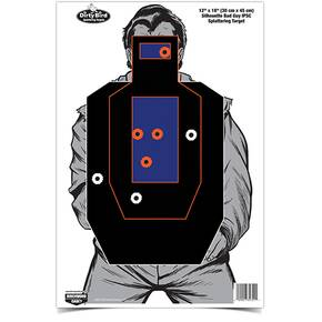 "Birchwood Casey Dirty Bird 12"" x 18"" Bad Guy IPSC Silhouette Target - 8 ct."