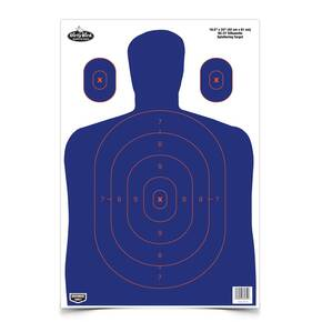 "Birchwood Casey Dirty Bird BC-27 Silhouette Target - 16.5""x24"" Blue/Orange 3 Pack"
