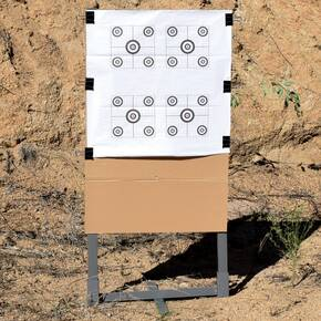 "GPS Gray Metal Target Stand 24"" with Kit"