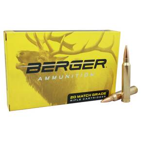 Berger Classic Hunter Rifle Ammunition 6mm Creedmoor 95gr 3140 fps 20/ct