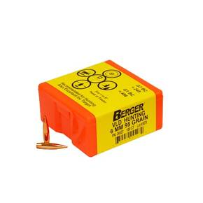 "Berger Match Grade Hunting Bullets 6mm .243"" 95 gr VLD HUNTER 100/box"