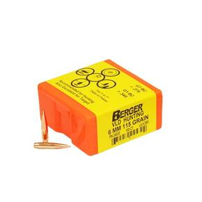 "Berger Match Grade Hunting Bullets 6mm .243"" 115 gr VLD HUNTER 100/box"