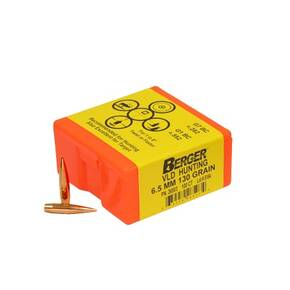 "Berger Match Grade Hunting Bullets 6.5mm .264"" 130 gr VLD HUNTER 100/box"