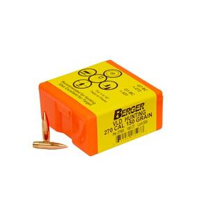 "Berger Match Grade Hunting Bullets .270 cal .277"" 150 gr VLD HUNTER 100/box"