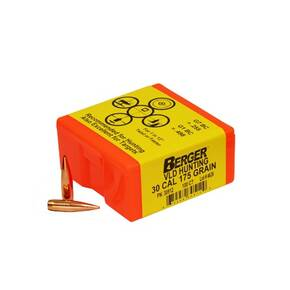 "Berger Match Grade Hunting Bullets .30 cal .308"" 175 gr VLD HUNTER 100/box"