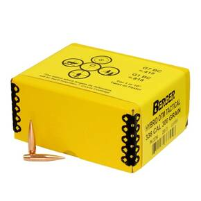 "Berger Match Grade Tactical Bullets .338 cal .338"" 300 gr HYBRID OTM TACTICAL 250/ct"