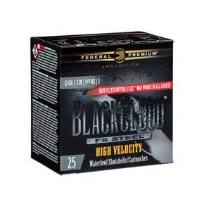 "Federal Black Cloud FS Steel High Velocity Shotshells 12ga. 3"" 1-1/8oz #4 1635 fps 25/ct"
