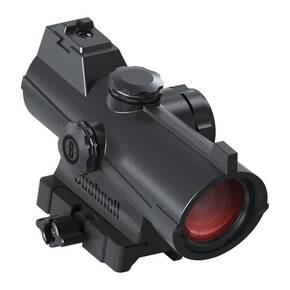 Bushnell AR Incinerate Red Dot Sight w/ Hi-Rise Mount - 25 MOA Illuminated Circle Dot Reticle Black Matte