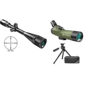 Barska / Blackhawk Combination Package - 6-24x42mm Varmint AO Rifle Scope & 18-36x50mm SPOT