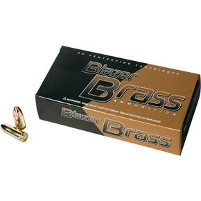 CCI Blazer Brass Handgun Ammunition 9mm Luger 115 gr FMJ 1145 fps 50/box