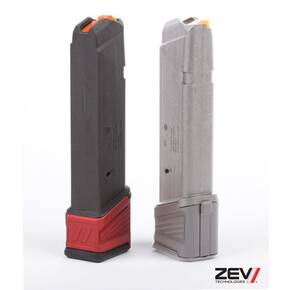 ZEV Technologies +5 Capacity Basepad Extension for Magpul GL9 PMAG17 Glock Magazine – Red