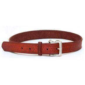 Tagua Basquet Weave Leather Belt Size 44 Brown