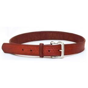 Tagua Basquet Weave Leather Belt Size 38 Brown
