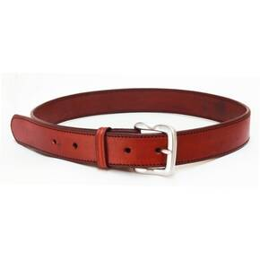 Tagua Plain Leather Belt Size 38 Brown