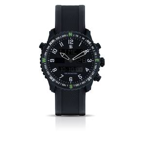 Smith & Bradley Ambush Watch - Olive Drab Green Nato with PVD Rubber Strap