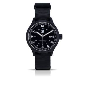 Smith & Bradley Springfield PVD Watch - Black Nato Strap