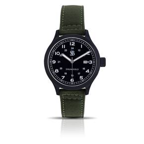 Smith & Bradley Springfield PVD Watch - Green Cordura Strap