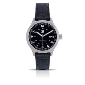 Smith & Bradley Springfield Stainless Steel Watch - Black Nylon Strap