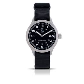 Smith & Bradley Springfield Stainless Steel Watch - Black Nato