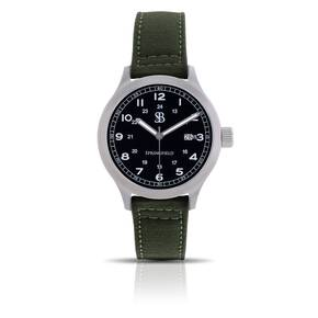 Smith & Bradley Springfield Stainless Steel Watch - Green Nylon Strap